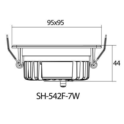 چراغ سیلندری مربع 7 وات LED شعاع مدل SH-542F-7w
