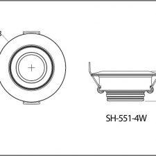 چراغ سیلندری 4وات LED شعاع مدل sh-551-4w