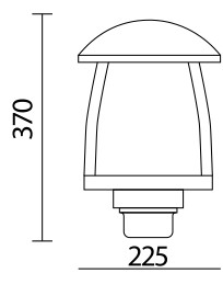چراغ حیاطی sh-4503