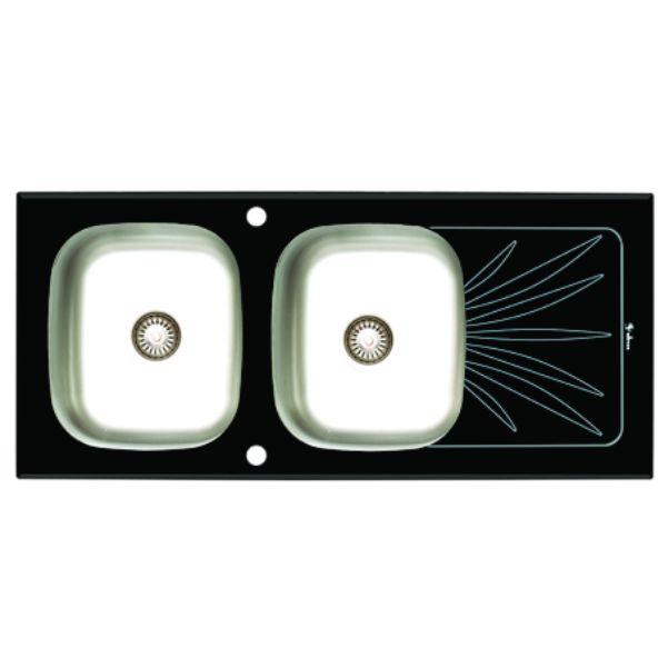 سینک توکار ظرفشویی شیشه ای داتیس کد DSG-124