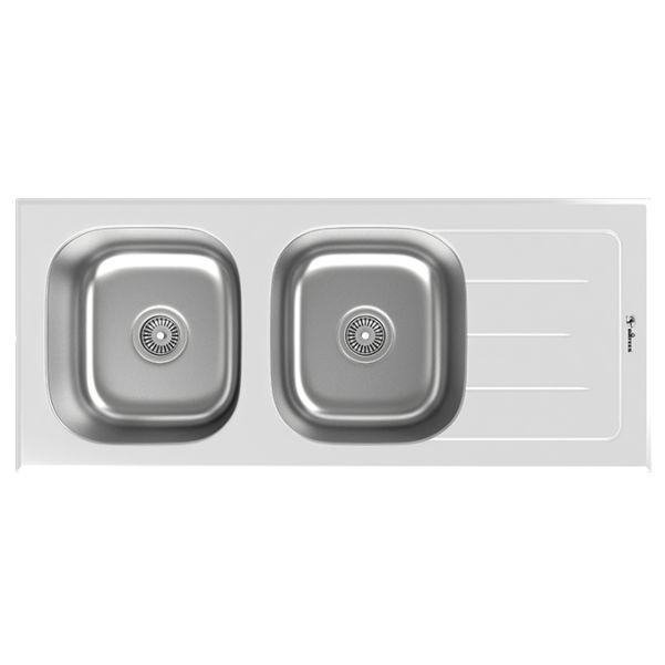 سینک توکار ظرفشویی شیشه ای داتیس کد DSG-119 الترا