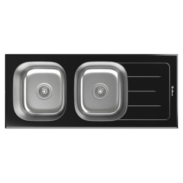 سینک توکار ظرفشویی شیشه ای داتیس کد DSG-119