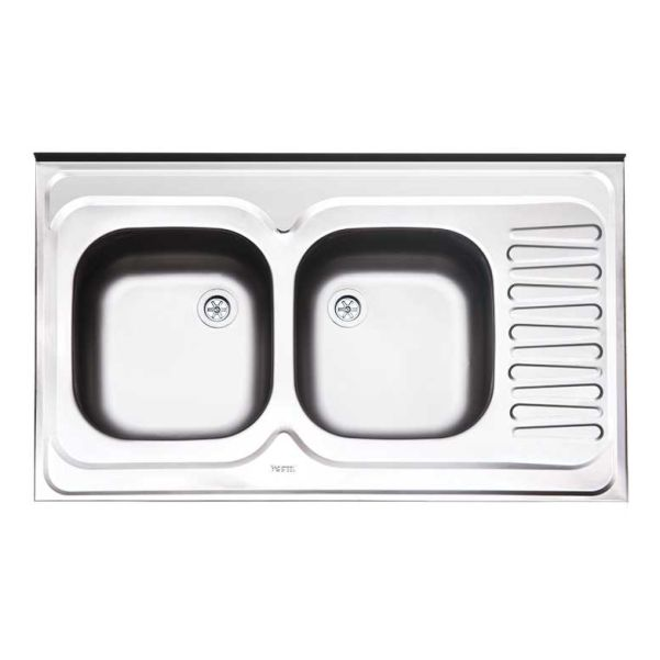 سینک ظرفشویی روکار کلاسیک ایلیااستیل کد 222