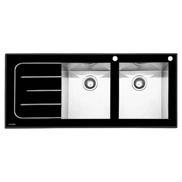 سینک توکار شیشه ای ایلیااستیل کد 8022