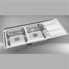 سینک ظرفشویی استیل البرز مدل 765