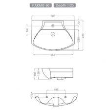 روشویی روکابینتی گلسار مدل پارمیس 60